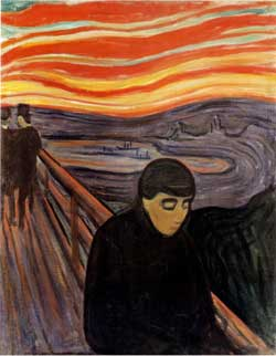 ΚΑΤΑΘΛΙΨΗ, απελπισία, κατάθλιψη, αντικαταθλιπτικά, φάρμακα στην Ψυχιατρική, Munch