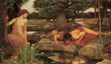 Ναρκισσισμός, waterhouse Echo and Narcissus